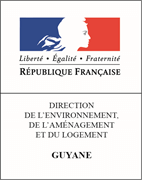 Logo Direction de l'Environnement, de l'Aménagement et du Logement de Guyane